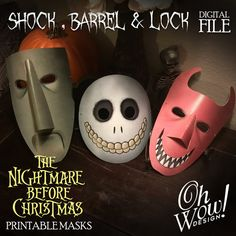 The Nightmare Before Christmas character mask: Lock Shock &