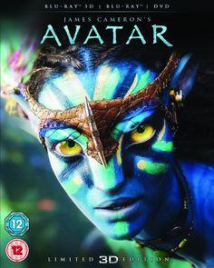 Avatar with Limited Edition Lenticular Artwork Blu-ray 3D + Blu-ray + DVD 2012…