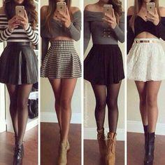 skirt shirt black crop tops stripes