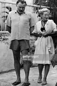 Ernest Hemingway and Mary Welsh, Finca Vigia (Lookout Farm) Cuba 1950's.