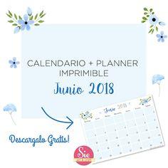 Sie - Art & Craft: Calendario + Planner Junio ♥ Grande, Arts And Crafts, Bullet Journal, How To Plan, Words, Diy, Frases, Day Planners, June