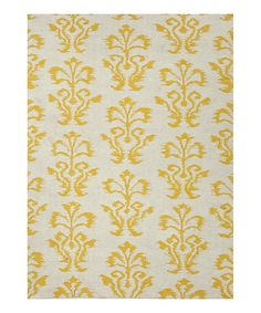 Take a look at this Yellow Floral Rug by Jaipur Rugs on #zulily today! $479.99