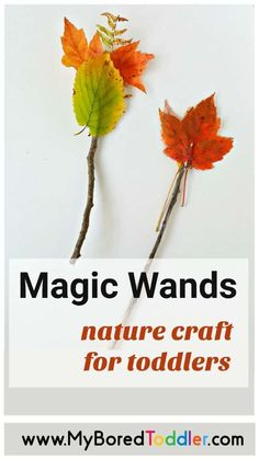 A magic wand can conjure up a lot of outdoor fun, especially if it's made with natural materials. Make a magic wand with leaves and twigs to provide a simple outdoor play opportunity for your toddler. Conjure up some creative and sensory play with this fun magic wand activity! #sensoryplay #sensory #toddler #toddleractivity #myboredtoddler #magicwand #funoutside Dinosaur Activities, Fun Activities For Toddlers, Nature Activities, Autumn Activities, Music Activities, Parenting Toddlers, Sensory Activities, Toddler Fun, Toddler Preschool
