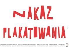 Posting Permited Nakaz Plakatowania Kajzer Ryszard Polish Poster