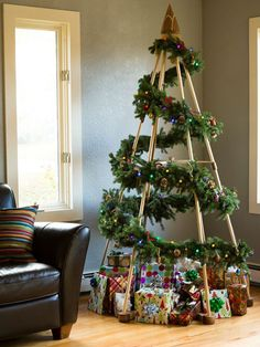 The Jubiltree is a modern and environmentally conscious alternative to the fake Christmas tree and one that you can make on your own.