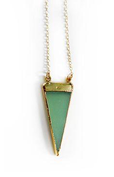 GIZA necklace  seafoam by shopkei on Etsy, $60.00