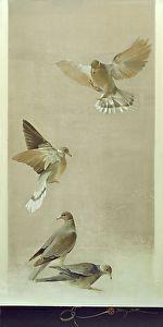 Flight by Sherry Loehr Mixed media ~ 36 x 18