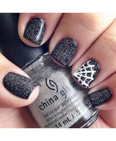 Sparkly Spiderwebs - Halloween Nails So Cool They'll Give You Chills - Photos