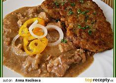Podle Magdaleny Dobromily - Vepřové na pivě recept - TopRecepty.cz Tandoori Chicken, Stew, Pork, Meat, Ethnic Recipes, Pork Roulade, Pigs, Pork Chops