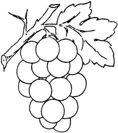 UVA DA COLORARE   Stampa e colora: Frutta - Uva