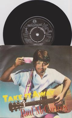 "PAUL McCARTNEY Take It Away 1982 Uk Issue 7"" 45 rpm Vinyl Single Record Pop Rock 80s Music Martin Starr Stewart Beatles R6056 Free S&h"