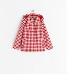 CHECKED RAINCOAT, Zara kids, 2014