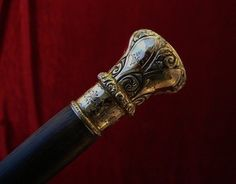 Victorian Walking Stick | Fine Antique Victorian Period Gold Cane Walking Stick Circa 1890 used ...