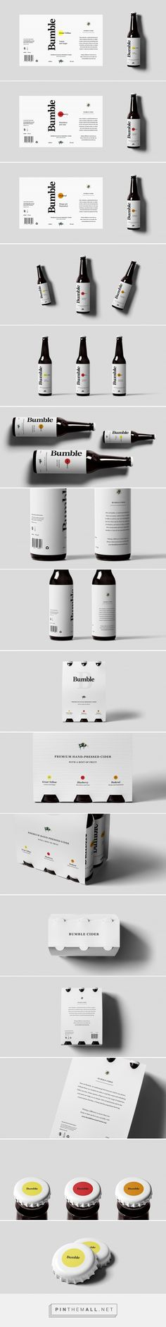 Bumble Cider (Concept) - Packaging of the World - Creative Package Design Gallery - http://www.packagingoftheworld.com/2016/11/bumble-cider-concept.html