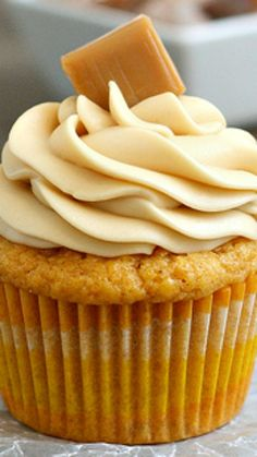 Brown Butter Pumpkin Cupcakes with Caramel Cream Cheese Frosting Recipe