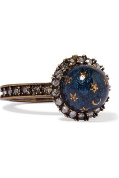 Valentino | Gold-plated, Swarovski crystal and enamel ring | NET-A-PORTER.COM