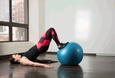 8. Stability Ball Hip Thrust #stabilityball #abs #exercises http://greatist.com/move/abs-workout-best-stability-ball-moves-for-your-core