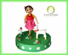 Cake Topper Heidi Cake by LeTorteDiCiccibella