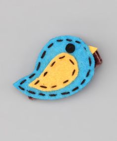 Take a look at this Turquoise Bird Clip by Tullie Girl on #zulily today!
