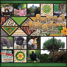 Chelle's Creations - Zoo Crew Jungle, Zoo Crew Safari, Zoo Crew Animal Prints Scrapping With Liz - Bunch of Photo templates 2