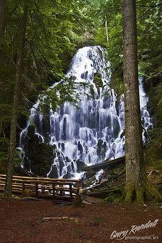 Ramona Falls near Mount Hood, Oregon.