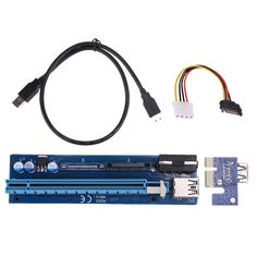 PCIe 1x to 16x PCI Express PCI-E Riser Card Extender Cable with 4Pin SATA Power Supply 60cm USB 3.0 cable for Bitcoin Mining GPU #Affiliate