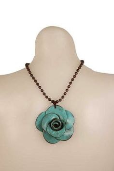 sookie sookie jewelry | Sookie Sookie Necklace Cab Turq Turquoise, Cabbage Rose, 16 inch ball ...