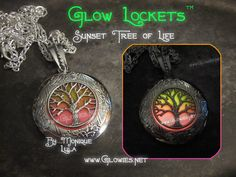 Glowies.net - Sunset Tree of Life Glow Locket ™