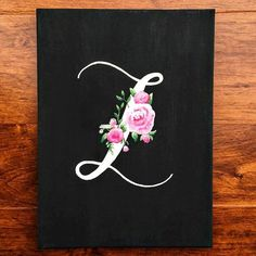 Monogrammed Cottage Chic Canvas Painting by BeautyWithinBoutique