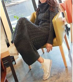 Sweater Dresses /knitting dress/Long Sweater DRESS door Focus2013, $69.99