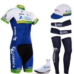 45.00$  Buy here - http://alicyq.shopchina.info/go.php?t=32801674309 - HOT pro ORICA team cycling full set 6pcs cycling jersey set men's jersey with hat sleeves leg warmer shoes cover 45.00$ #SHOPPING