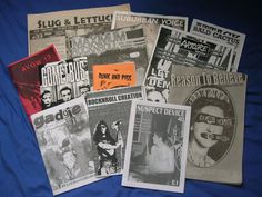 "Zines were DIY products, ""proudly amateur, usually handmade, and always independent"" and in the ""'90s, zines were the primary way to stay up on punk and hardcore."" Description from en.wikipedia.org. I searched for this on bing.com/images"