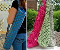 You'll  these gorgeous Crochet Exercise Mat Tote Bags and they're a fabulous FREE Pattern. Now you have the perfect accessory to carry your own Mat to class rather than using the Gym's. You'll  the Crochet and Knitted Yoga Socks too. This is a very popular post so view now!
