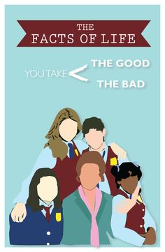 Classic TV Poster  The facts of life by GoodNightOwlDesigns