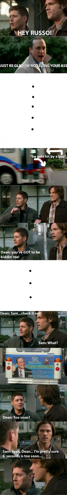 Too soon? Come on Dean!