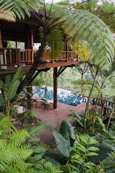Ideas For House Design Exterior Philippines Bungalow Bohemian House, Tropical Houses, Tropical Garden, Tropical House Design, Tropical Pool, Tropical Style, Tropical Paradise, Outdoor Spaces, Outdoor Living