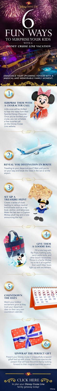 Surprising your family with a Disney Cruise Line adventure? Here's some ideas for announcing the surprise.