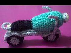 MOTO AMIGURUMI UNCINETTO,MOTOCICLE CROCHET HOOK - YouTube