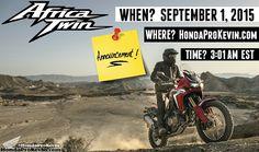 2016 Honda Africa Twin CRF1000L Model News Update September / Announcement