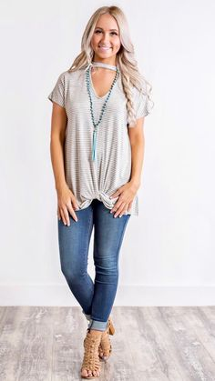Breezy Stripped Top (Heather Grey) https://nanamacs.com/collections/new-arrivals