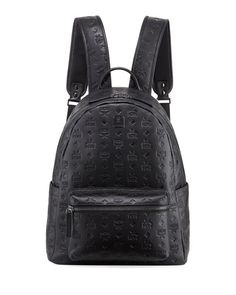 Ottomar Men s Logo-Embossed Leather Backpack by MCM at Neiman Marcus df2284d40b88a