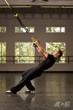 ACE Fit | Exercise: TRX ® Back Row  #trx #workout #howto