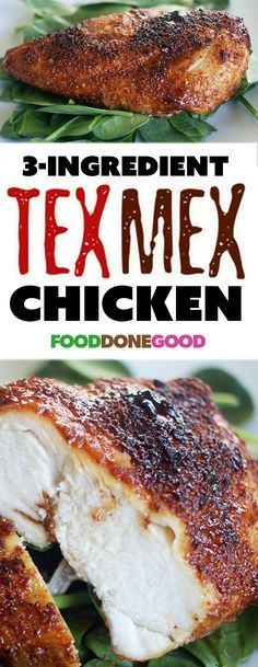 You've never had baked chicken like this before. Simple... only 3-ingredients! Tex-Mex chicken.