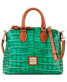 8ef30ddb502c Dooney   Bourke Nile Croco Printed Crossbody Satchel Handbags   Accessories  - Macy s