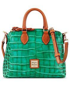 Dooney & Bourke Handbag, Nile Croco Crossbody Satchel - Handbags & Accessories - Macy's Love the Green!