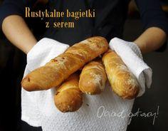 Obiad gotowy!: Rustykalne bagietki z serem Hot Dog Buns, Hot Dogs, Bread, Cooking, Food, Kitchen, Brot, Essen, Baking