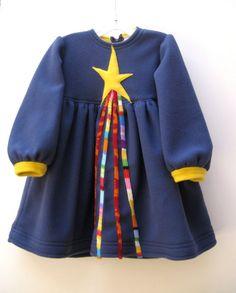 Blue Star Dress applique