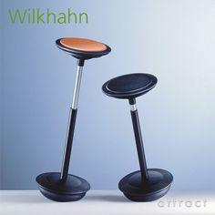 Wilkhahn ウィルクハーン Stitz. スティッツ Half Seating Chair ハーフシーティング チェア 座面:コルク 201 1 ガスリフト上下昇降 360°回転 カウンター スツール チェア アトラクト・オンラインショップ