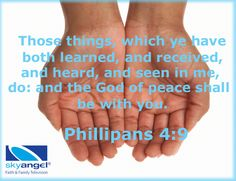 Philippians 4:9 inspirational scripture
