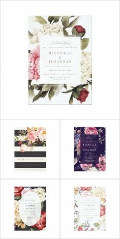 Vintage botanical wedding invitations by Phrosné Ras Design at http://www.zazzle.com/collections/wedding_invitations-119957451063755401?rf=238395237176455059